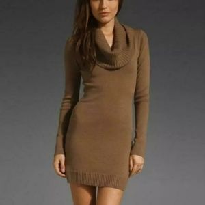 NWT BCBG Cowl Neck Dress in Mocha / brown / taupe